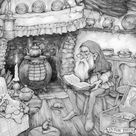 Gnome home  Anton Pieck cluttered cosy interior of a old   Etsy