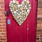 HEART - Wall Art - over 500 Tree Stumps Valentines Love Decorative Made to Order