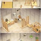 Reddit - AnimalCrossing - my bamboo bathroom! 🎋 the white botanical wallpaper is my absolute favourite wall in the entire game 🥰