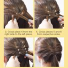 Step up your simple pony for a glamorous look all day with this fishtail braid tutorial
