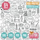 LONDON England UK SVG, doodle icon vector. Travel Vacation Europe Doodle Icons Clipart Scrapbook Set Coloring Line Art Hand Drawn Scribble.