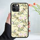 Flower wallpaper phone case cover 202 Black (Apple Models Only) - 2