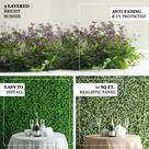 Efavormart 4 Pack 10 Sq ft. Artificial Boxwood Hedge Black Locust and Cypress Leaves Foliage Green Garden Wall Mat - Walmart.com