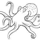 Groß Octopus Malvorlage  Zum Herunterladen Und Drucken