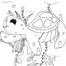 Schildkröten Ausmalbild kostenlos für Kinder, Kindergarten , Vorschule ,Schule, Horte und Erwachsene