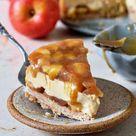 Apfel-Käsekuchen mit Karamell (vegan, glutenfrei) - Elavegan | Rezepte