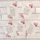 Vintage Style Wedding Table Plan Cards Pink Planner Seating