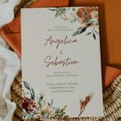 JUNIPER  Boho Fall Wedding Bundle Wedding Invitation Set   Etsy
