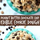 Peanut Butter Chocolate Chip Edible Cookie Dough