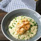 Parmesan-Risotto mit Garnelen - Madame Cuisine