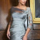 Silver Evening Gowns