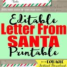 Personalized Letter from Santa Printable, Customized Envelope Template, Father Christmas North Pole Mail, Digital PDF Self Editing Claus Cam