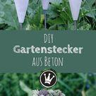 Sommerlicher Hingucker Gartenstecker & Blumenampel aus Beton