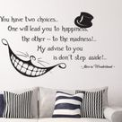 Alice In Wonderland Wall Decal Cheshire Cat Every Adventure Requires A First Step Quote Vinyl Sticker Art Bedroom Nursery Home Decor Q092