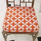 Global Views Solitaire Tangerine Transitional Seat Cushion X-23029.9 - Transitional - Decorative Pillows - by Yvonne Randolph | Houzz