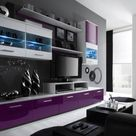 Paris 7 - fiolet high gloss wall unit
