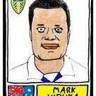 Leeds Utd Volume 1 - No Score Draws Elland Road Edition - A3 print of 36 hand-drawn Panini-style LUFC legends - Cheapskate football art