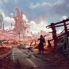 Into the Wasteland, an art print by Karl Schulschenk