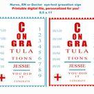 Nurse graduation invitation,  Nurse RN Party Eye Chart, Birthday or Graduation Party, cap and pinning ceremony,  Graduation Party