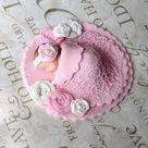 BABY SHOWER CAKE Topper, fondant baby shower cake topper, Vintage baby shower/ vintage cake topper