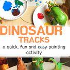 Dinosaur Tracks: an easy painting activity » Sunshine and Chaos