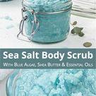 Spa Day At Home: DIY Salt Scrub Recipe - Homemade Exfoliating Salt Body Scrub with Essential Oils