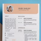 Creative Modern Resume Template Word /CV and Cover Letter | Etsy