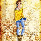 Belle ~ ~ Beauty & Beast ~ Urban Culture, BOHO, Hippie, Tattoo, In the hood