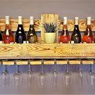 Weinregal Palette beflammt vintage für 10 Weingläser