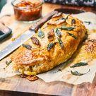 Portobello mushroom, caramelised onion and brie Wellington - Nadia Lim