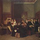 Carl d'Unker, 1865 - Third-Class Waiting-Room II - fine art print - Metal print (Aluminium Dibond) / 120x90cm - 47x35\