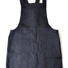 Organic Denim Dungaree Dress in Indigo - XXL