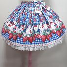 Ribbon Berry Bunny Skirt by Angelic Pretty