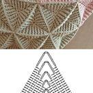 Textured Triangle Crochet Pattern Diagrams for Blankets ⋆ Crochet Kingdom