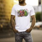 Under The Sea - Octopus - Mens T-Shirt - Artwork by the Very Talented Artist Sarah Neville - Made to Order - UK Extra Large / Round Neck
