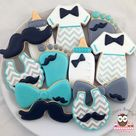 Baby shower cookies for boy