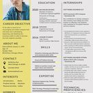 Resume/CV Format for Engineering Freshers Template - Word | PSD | Apple Pages