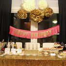 Gold Birthday Party