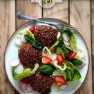 vegane Buchweizenpuffer zum Salat - glutenfrei und lecker