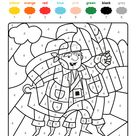 Colour by numbers  un pirate
