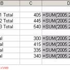 Excel Formulas   3D Formulas