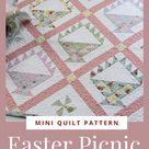 Easter Picnic Mini Quilt PDF Pattern