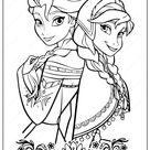 Pritable Frozen 2 Anna & Elsa Coloring Page