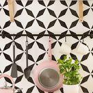 Nola Tile Stencil - Geometric Cement TILE STENCILS for Painting Tiles - Reusable Tile Stencils for Home Makeover - Easy Tile DIY Home Décor