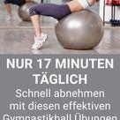 Gymnastikball Übungen - Schnell abnehmen mit diesen Pezziball Übungen