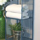 4 Tier Square Shelf Unit Blue