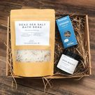 Complete Relaxation Set - BULK DISCOUNTS - staff relaxation gift, dead sea salts, deep breath candle
