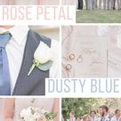 Pale Blush & Dusty Blue Countryside Wedding | Rose Courts Photography