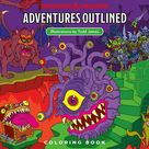 D&D Adventures Outlined Coloring Book