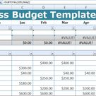 Business Budget Template Excel - Free Excel Spreadsheets and Templates